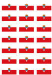 Cantabria Flag Stickers - 21 per sheet